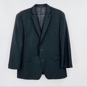 CALVIN KLEIN Black Suit Jacket, Two Button